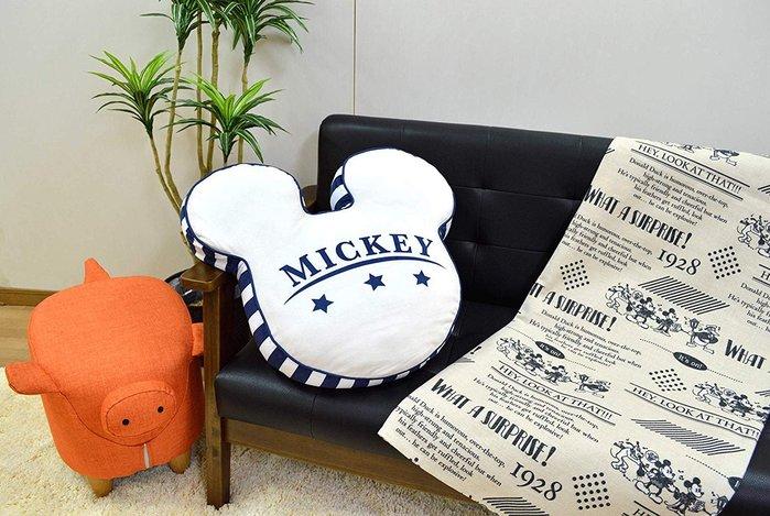 迪士尼Disney《預購》米奇頭型 Mocchi-Mocchi 麻糬軟Q抱枕~日本正品~心心小舖