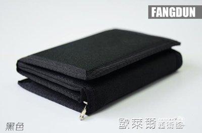 錢包男士短款 帆布小錢包男 日韓青年帶獨立零錢位 三折學生錢夾