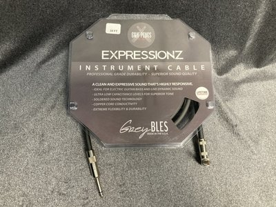【又昇樂器 . 音響】免運 美國大廠 G&H Plugs 黑標 ExpressionzCable 導線10ft 演出推薦