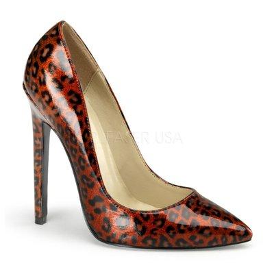 Shoes InStyle《五吋》美國品牌  PLEASER 原廠正品漆皮豹紋尖頭高跟包鞋 出清『紅色』