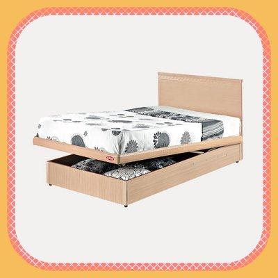 二手家具台北百豐悅2手買賣-新品出清白橡色3.5尺單人加大掀床組 收納置物床組床頭 桃園二手傢俱推薦淡水八里中古家電推薦