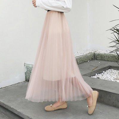 半身裙 連身裙 春夏季半身長裙仙女裙子半身裙網紗裙蓬蓬裙
