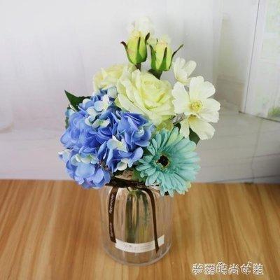 YEAHSHOP 北歐創意直筒條紋加厚玻璃透明花瓶 辦公室家居插花適用擺件610224Y185