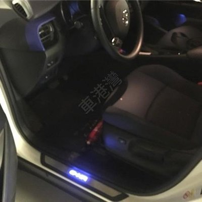 W豐田CHR TOYOTA C-HR CHR  塑料 帶燈LED外門檻條 下門檻 不鏽鋼 迎賓踏板 門檻踏板 防滑踏板