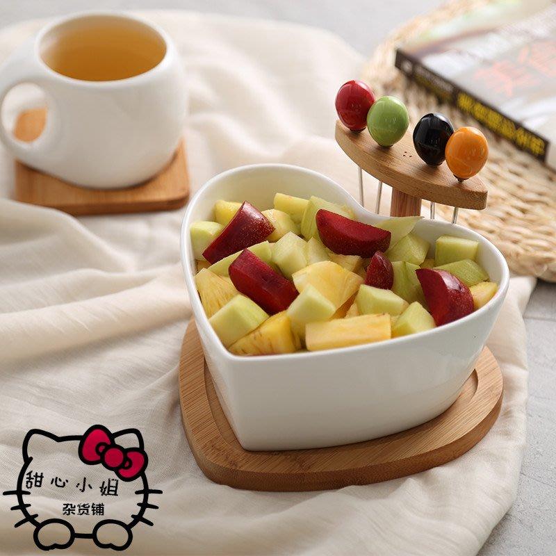 北歐風格沙拉碗帶果叉水果盤碗盆