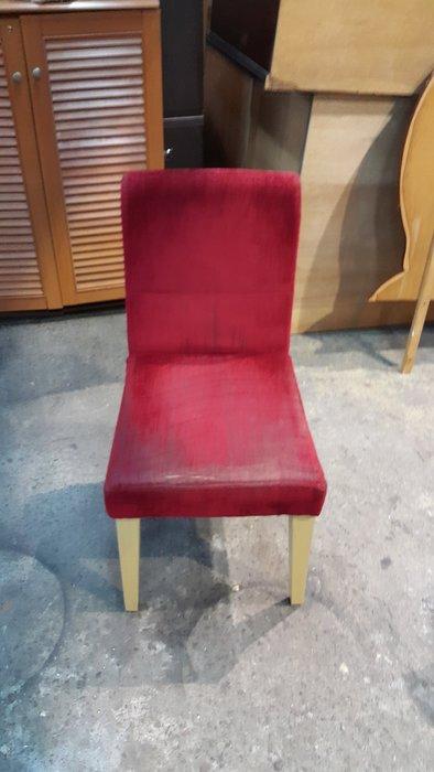 樂居二手傢俱 全新中古家具賣場*F0720BJJ 紅布餐椅*餐椅 電腦椅 洽談椅 休閒椅 餐廳家具拍賣 餐桌椅