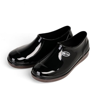 雨鞋 雨靴 男低幫短筒防水鞋輕便耐磨厚底防滑膠鞋廚房工作鞋 廚師鞋 短靴 情侶鞋—莎芭