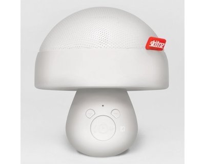 【尼克放心】skitoz Q1Max Hi-Fi 可2.0環繞立體聲 蘑菇藍牙喇叭 (黑/白) 可攜式