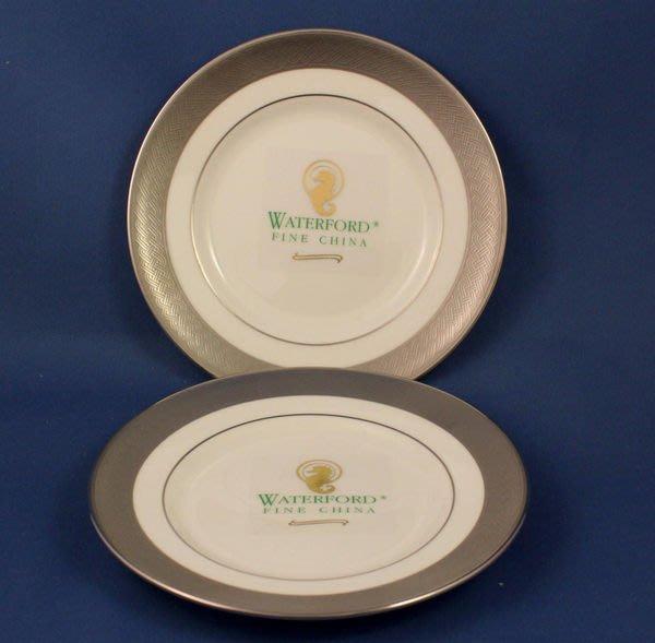 [美]超美的英國名瓷WATERFORD點心盤KELLS PLATINUM系列,2個盤子一起賣,全新一級品