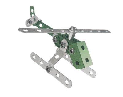 [李老大] 6713AA Meccano 入門套件組 金屬積木組合 直升機造型 模型 擺飾 益智