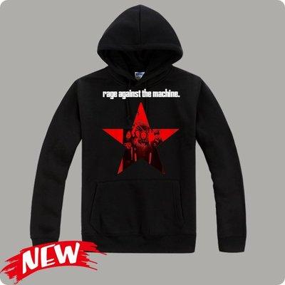 【Rage Against The Machine+Korn+Slayer+H.I.M】連帽厚絨長袖搖滾樂團T恤
