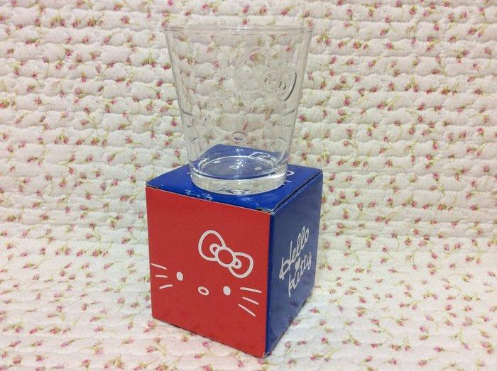 Sanrio hello kitty 大臉款 立體浮雕玻璃杯/威仕忌杯《日本製.2016年商品》收藏特價岀清