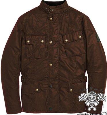 ♛大鬍子俱樂部♛ Belstaff ® Crosby Waxed 英國 復古 蠟棉 通風 哈雷 重機 防摔 夾克 棕色