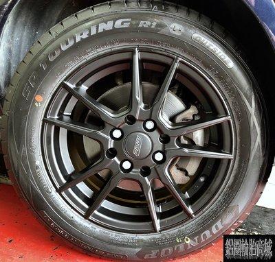 【CS-5778】全新鋁圈 DTM 14吋 4孔100 4孔114.3 5.5J 消光黑 福斯 VW polo 實裝圖