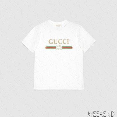 【WEEKEND】 GUCCI Logo 經典 短袖 T恤 白色 457095