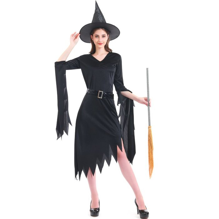 禧禧雜貨店-萬圣節cosplay性感不規則修女女巫長裙舞會演出巫婆服裝成人女服#萬聖節道具#萬聖節裝飾#萬聖節服裝#萬聖