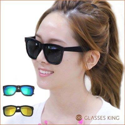 【部分斷貨】眼鏡王☆現貨韓國復古方框太陽眼鏡墨鏡大框BIGBAN GD同款少女時代明星黑色反光台灣製S-19