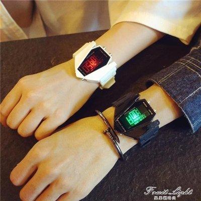 ☜男神閣☞情侶手錶學院風時尚發光運動電子錶