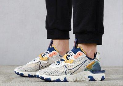 Nike React Vision DIMSIX 網眼 透氣 低幫 運動休閒 白黃藍 慢跑鞋男款 CD4373-103