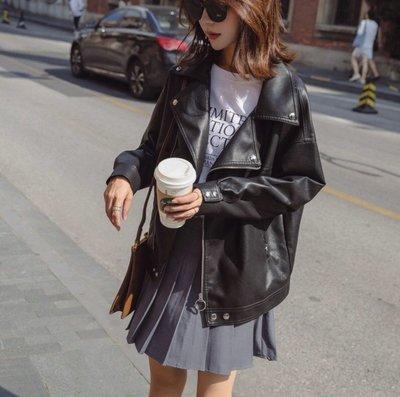 ✨日韓美著✨韓版酷玩潮流率性皮衣leather jacket