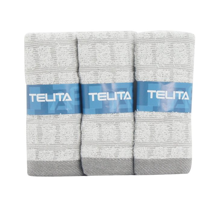 【TELITA】MIT竹炭方格易擰乾毛巾(超值9條組)免運