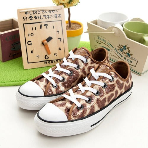 利卡夢鞋園–CONVERSE 短筒經典鞋--長頸鹿紋亮片--194U170118--男--UK 8 號