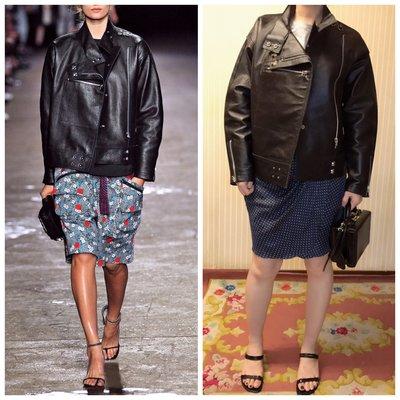 OPENING CEREMONY leather jacket/OPENING CEREMONY100%真皮皮衣