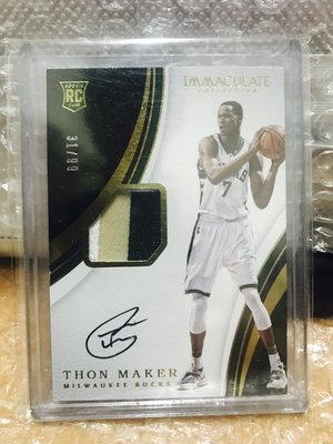 2016-17 Immaculate Thon Maker Rookie Patch Auto