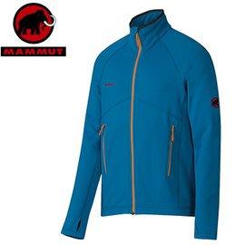 丹大戶外【MAMMUT】瑞士長毛象 男 刷毛保暖外套 1010-17860-5611 暗青色