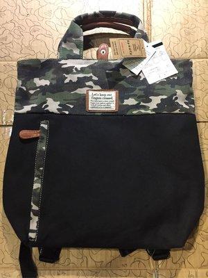 [變身館日本服飾]~SPRUCE~後背包~書包~手提包~迷彩~可手提~可後背~日本購入~全新商品~現品~~出清價