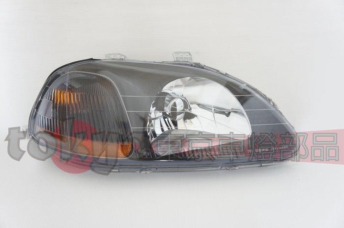 @Tokyo東京車燈部品@HONDA 本田 CIVIC K800 K8 96-98年 原廠型 黑框大燈 黃角燈 單邊價