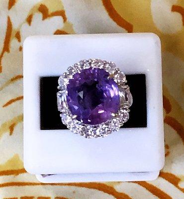 GIA無燒錫蘭天然紫色無處理藍寶石14.75克拉~附GIA+聯合寶石鑑定書~投資增值~誰人甲我比