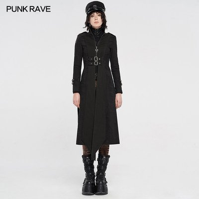 beauty女孩 PUNK RAVE pr朋克狀態女裝 可拆肩章末日廢墟搖滾金屬朋克外套