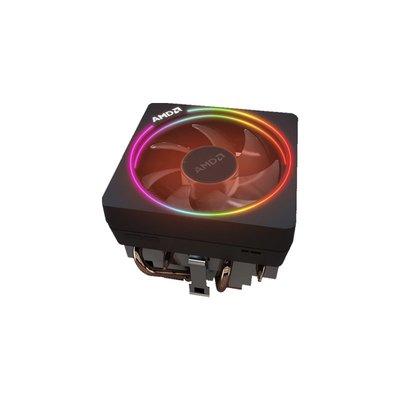 電腦風扇配件AMD原裝銳龍CPU散熱器AM4 3900X/3600X/3700X銅管幽靈棱鏡RGB風扇