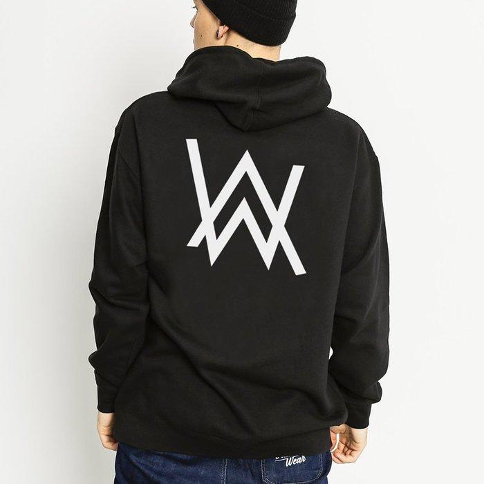 Alan Walker Logo 艾倫沃克 官方同款 黑色 連帽外套 同款 美國棉 EDM