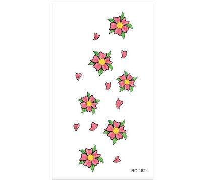 【萌古屋】小紅花 - 男女防水紋身貼紙刺青貼紙 RC-182