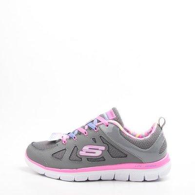 Skechers air cooled 兒童慢跑鞋-灰/粉 81674LGYPK  現貨