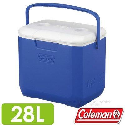 大里RV城市【美國 Coleman】EXCURSION 海洋藍冰箱 28L.高效能行動冰桶.保冷保冰 CM-27861