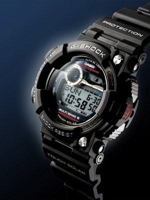【金台鐘錶】CASIO卡西歐G-SHOCK 潛水用 電波錶 FROGMAN (蛙王)(日版) 黑 GWF-1000-1