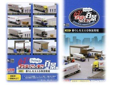 佳鈺精品-全新商品-TOMYTEC--工作百景001物流現場8輛一中盒裝-特價