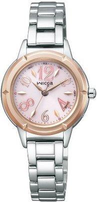 日本正版 CITIZEN 星辰 WICCA NA15-1732D 女錶 女用 手錶 電波錶 太陽能充電 日本代購