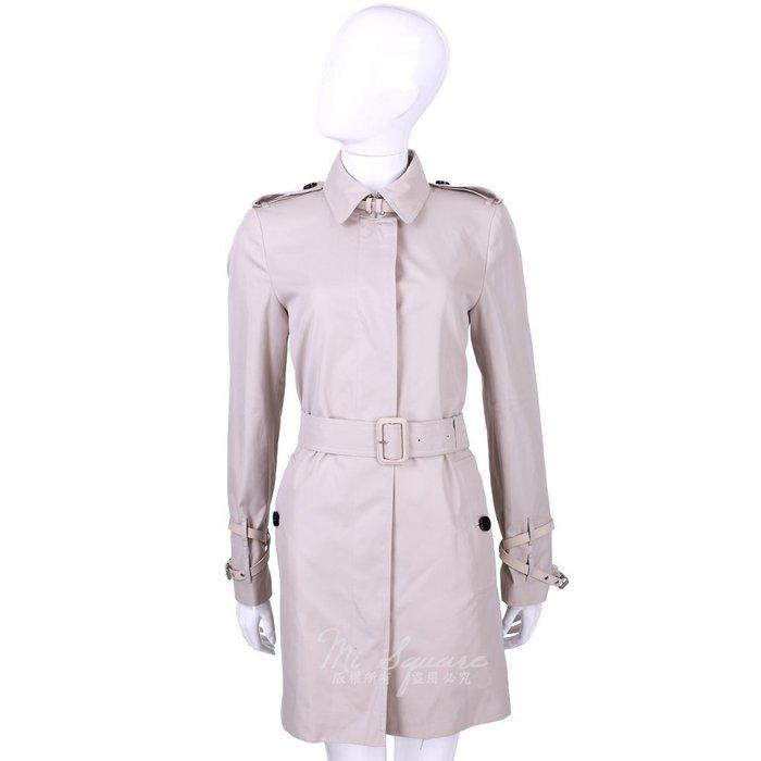 米蘭廣場 BURBERRY 棉質GABARDINE中長版風衣(粉色) 1510123-05