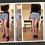 *Beauty*國內設計師VK淺藍層層荷葉牛仔短裙...