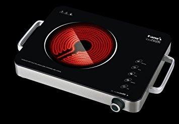 電陶爐,1350W,LED顯示 定時 單口電熱爐 雙手把;電爐 瓦斯爐 生日禮物 禮品 贈品