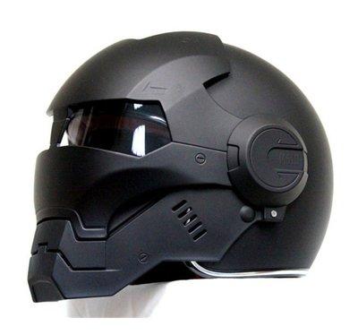 Masei公司貨美國 鋼鐵人 新IRON MAN 新款Atomic-Man 610 限量 多功能 全罩式 安全帽 消光黑