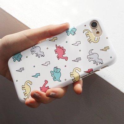 韓國 可愛小恐龍 硬殼 手機殼│S6 Edge Plus S7 S8 S9│z8074