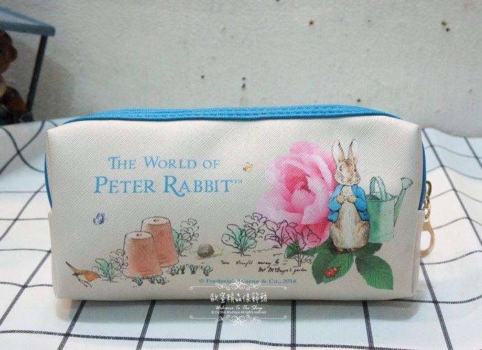 ~*歐室精品傢飾館*~Peter Rabbit 彼得兔 比得兔 鄉村風格 立兔玫瑰 萬用包 筆袋 化妝包~新款上市~