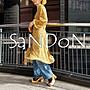 SaNDoN x『UNGRID』花系列之一 二穿穗花復古腰帶綁帶花花長版 襯衫罩衫 OP SLY 170711