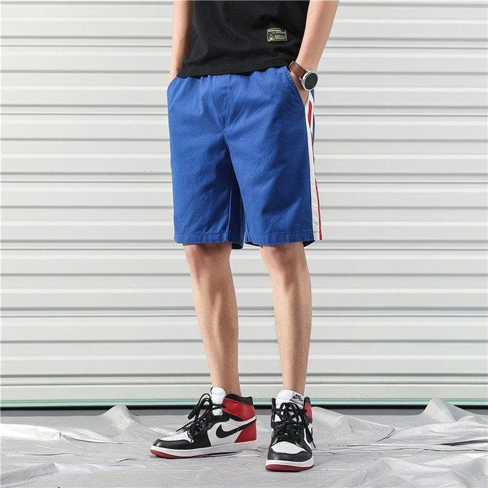 ZIHOPE 短褲 休閒短褲 牛仔短褲 款休閒短褲男士加肥大碼寬松運動褲韓版胖子潮流工裝褲ZI812