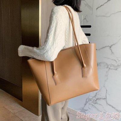 托特包 簡約女士側背大包包2020流行新款潮時尚網紅大容量百搭手提托特包 suger